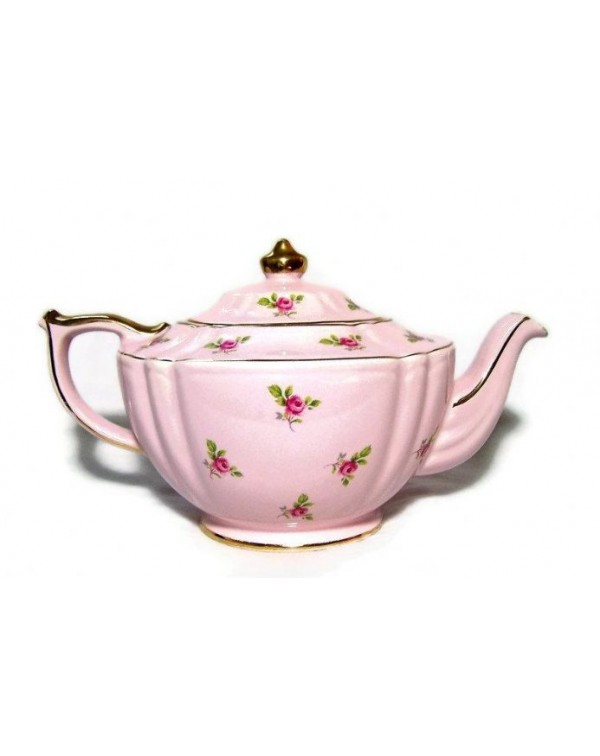 (OUT OF STOCK) SADLER PINK ROSE CHINTZ VINTAGE TEA...